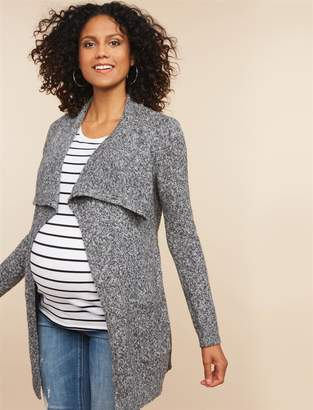 Motherhood Maternity Drape Collar Maternity Cardigan