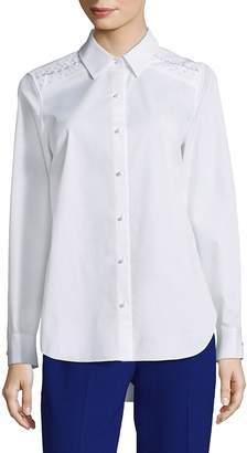 Elie Tahari Women's Alina Point Collared Blouse