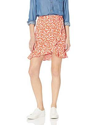 J.Crew Mercantile Women's Tie Waist Floral Ruffle Wrap Mini Skirt