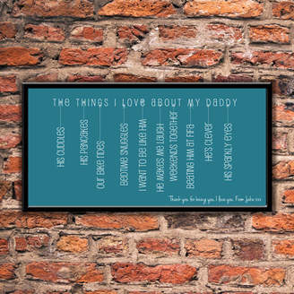 Name Art The Things I Love About My Daddy Print