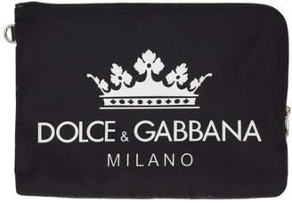 Dolce & Gabbana Black Logo Pouch