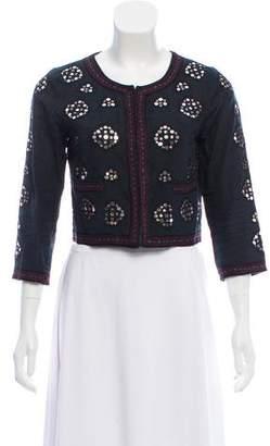 Gryphon Embellished Crop Jacket