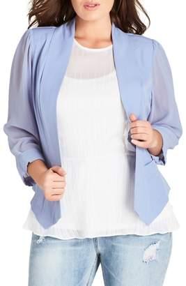 City Chic Drapey Chiffon Sleeve Jacket