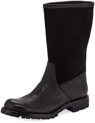 518b9fdc5eb Gravati Leather and Suede Mid-Calf Boots