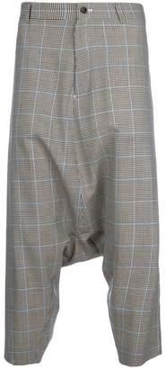 Comme des Garcons check drop-crotch trousers