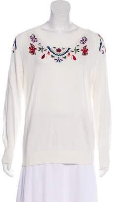 Rebecca Minkoff Embroidered Scoop Neck Sweater