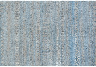 Blue Area United Weavers Weathered Treasures Classic Scroll Striped Rug