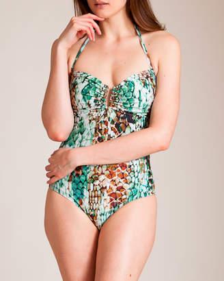Lenny Niemeyer Swimwear Lycra Bandeau Swimsuit