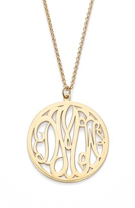 Women's Argento Vivo Personalized 3-Letter Monogram Necklace $148 thestylecure.com