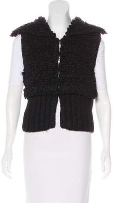 Alexander Wang Textured Wool-Blend Vest