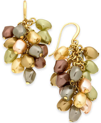 Charter Club Gold-Tone Shaky Imitation Pearl Drop Earrings, Created for Macy's