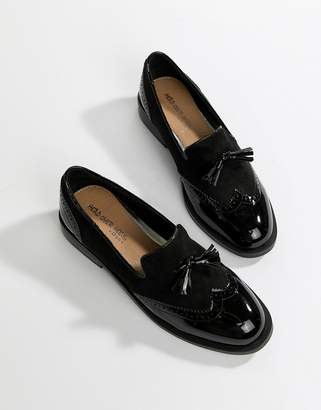 Head Over Heels By Dune Glad Black Brogue Shoes