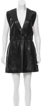 Ganni Textured A-Line Dress