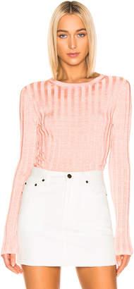 Acne Studios Sitha Sweater in Peach & Pink | FWRD