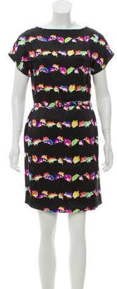 Marc Jacobs Belted Mouse Print Dress