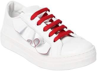 Fendi Ruffled Leather Sneakers