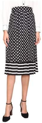 Kate Spade Dot Stripe Pleated Skirt Women's Skirt