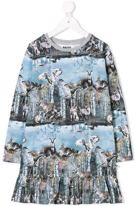 Molo forest print dress