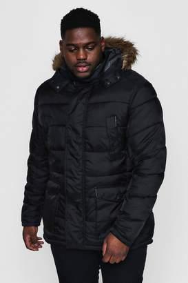 boohoo Big And Tall Padded Parka Jacket