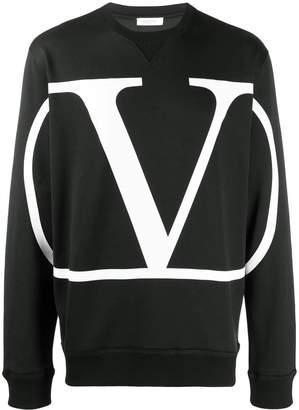 Valentino v logo sweatshirt black
