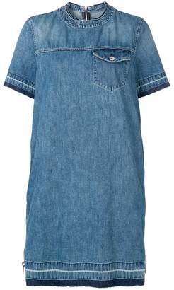 Sacai denim peplum T-shirt dress