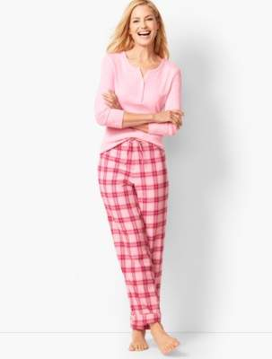 Talbots Pajama Set - Flannel Glen Plaid