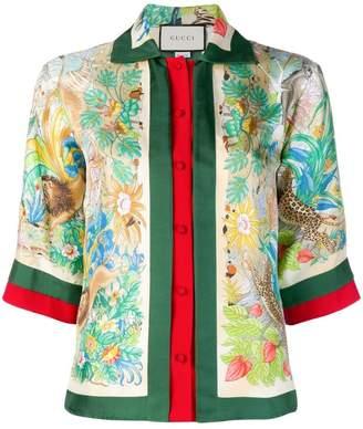 Gucci Floral Jungle shirt