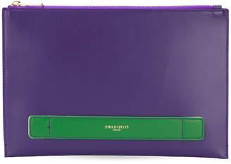 Emilio Pucci two tone clutch bag