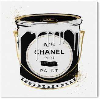 Oliver Gal Fashion Paint Noir Fashion Art' Wrapped Canvas Print Format: Wrapped Canvas,