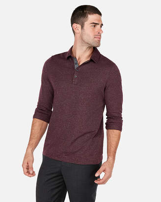 Express Signature London Moisture-Wicking Marled Polo