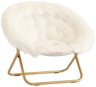 Pottery Barn Teen Ivory Himalayan Faux-Fur Hang-A-Round Chair