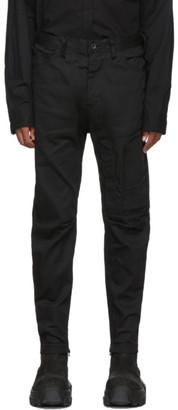 Julius Black Stretch Denim Cargo Pants