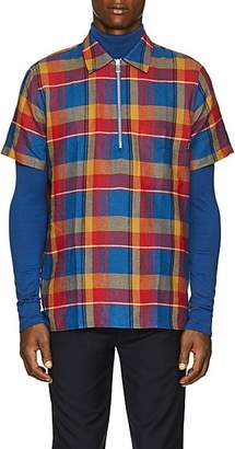 Paul Smith Men's Plaid Cotton-Linen Shirt - Red