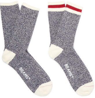 Beams Two-Pack Cotton-Blend Socks