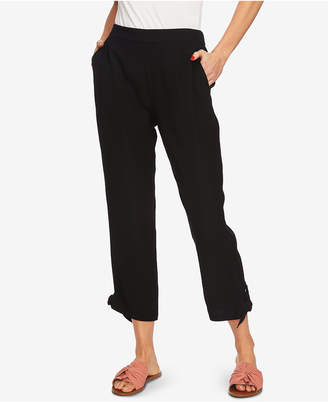 1 STATE 1.state Flat-Front Tie-Hem Ankle Pants