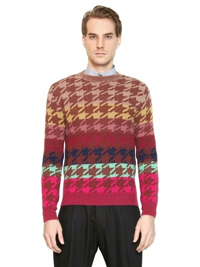Paul Smith Mohair Blend Jacquard Sweater