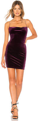 by the way. Yasmine Cowl Front Velvet Dress