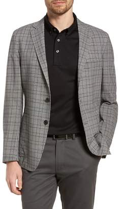 Hickey Freeman H BY Houndstooth Modern Fit Plaid Wool Sportcoat