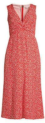 Rebecca Taylor Women's Malia Twist Sleeveless Floral Dress