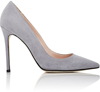 Barneys New York Women's Pointed-Toe Pumps-GREY $179 thestylecure.com