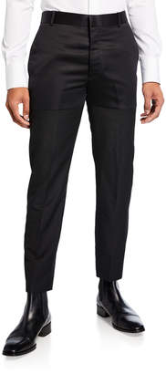 Alexander McQueen Men's Blocked Satin Ankle Pants