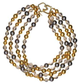 Kenneth Jay Lane 4 Row Bead Necklace