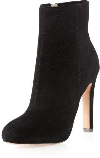 Jean-Michel Cazabat Parisian Suede Ankle Boot, Black