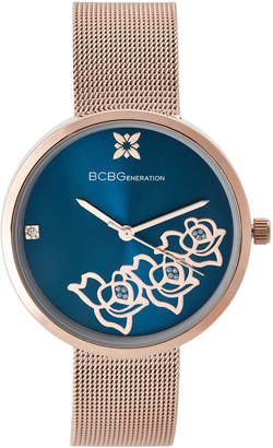 BCBGeneration GN50613002 Rose Gold-Tone & Blue Watch