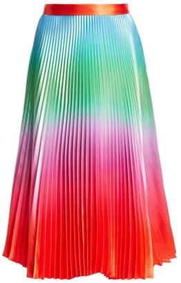 DELFI Collective Clara Rainbow Print Pleated Skirt