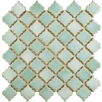 EliteTile Helmuth - Pharsalia Porcelain Mosaic Floor and Wall Tile in Mint Green