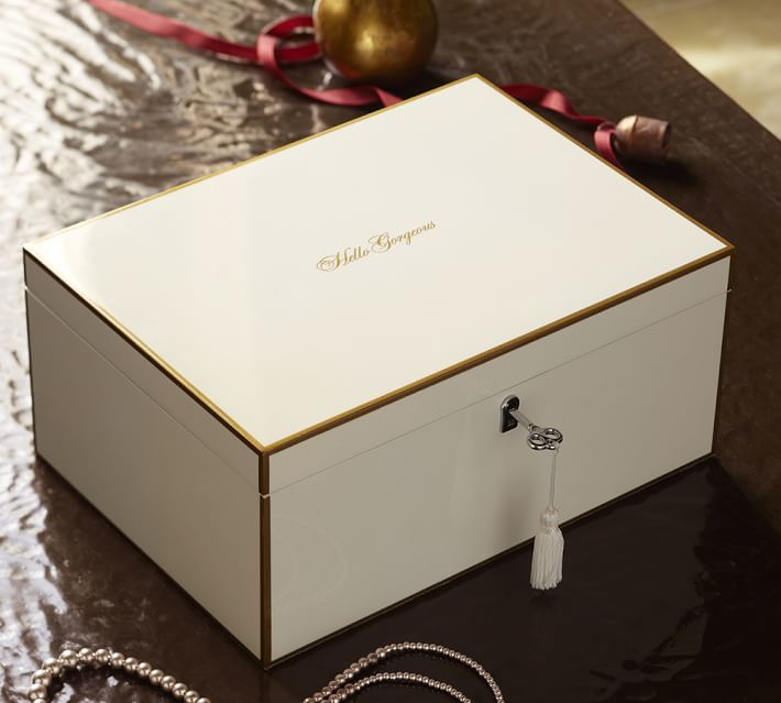Pottery Barn Hello Gorgeous Lacquer Jewelry Box