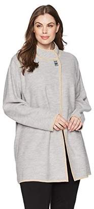 Calvin Klein Women's Plus Size Long Boil Wool Jackt