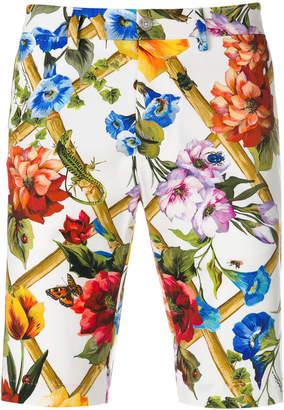 Dolce & Gabbana floral printed shorts