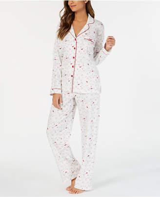 Charter Club Cotton Printed Pajama Set